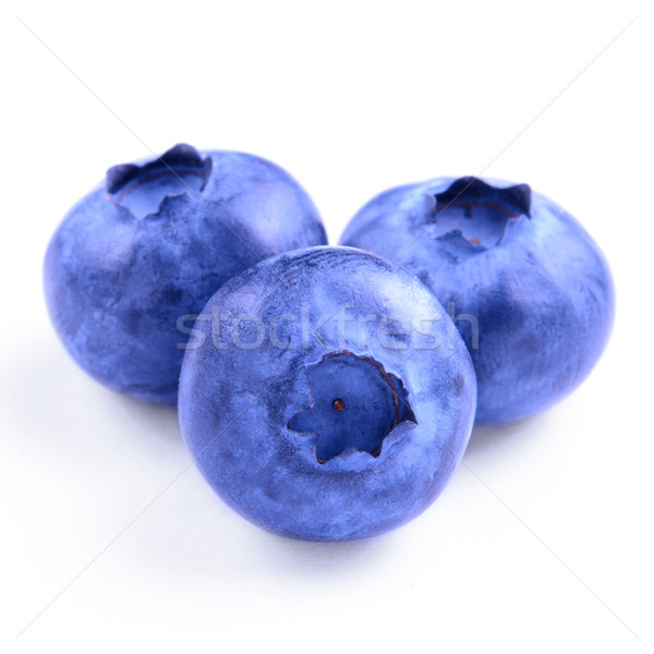 Stock photo: Group of Fresh Blueberries Isolated on the White Background