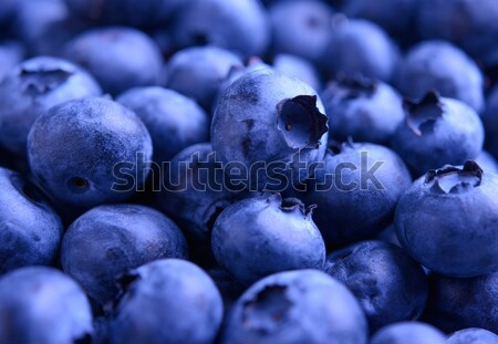 Stock photo: Background of Fresh Ripe Sweet Blueberries