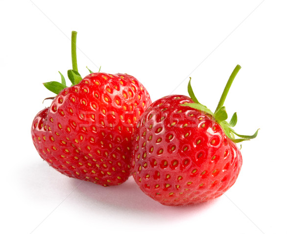Close up of Fresh Sweet Strawberries on White Background Stock photo © maxpro