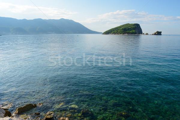 Famous Island of Sveti Nikola in Budva. Montenegro, Adriatic sea, Europe. Stock photo © maxpro