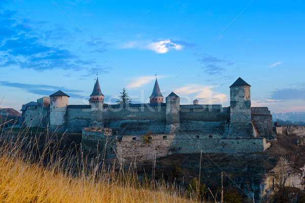 Vieux forteresse anciens ville bâtiment montagne Photo stock © maxpro