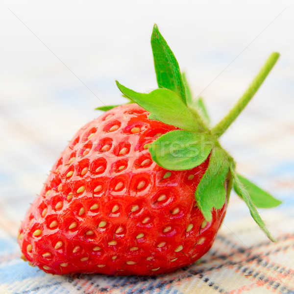 Fresh Sweet Strawberries on the Table Cloth Stock photo © maxpro