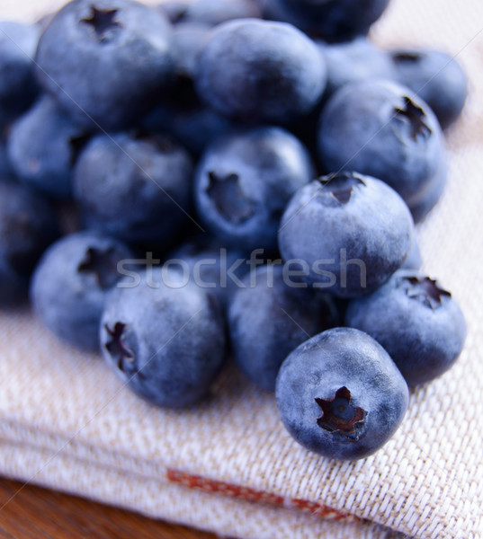 Closeup Image of Blueberries on the Fabric Serviette Stock photo © maxpro
