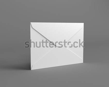 White Mail Envelope on the Gray Background Stock photo © maxpro