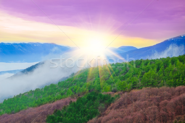 Beautiful Sunset in the Mountains Stock photo © maxpro