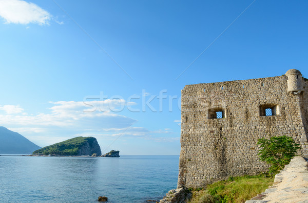 Citadel in Old Town of Budva. Montenegro, Balkans, Europe Stock photo © maxpro