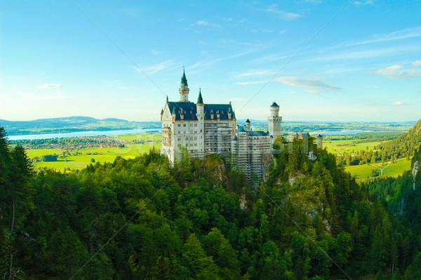 Famous Neuschwanstein castle in Fussen, Bavarian Alps, Germany Stock photo © maxpro