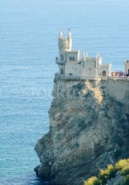 Beautiful Swallow's Nest Castle on the Rock, Crimea, Ukraine Stock photo © maxpro