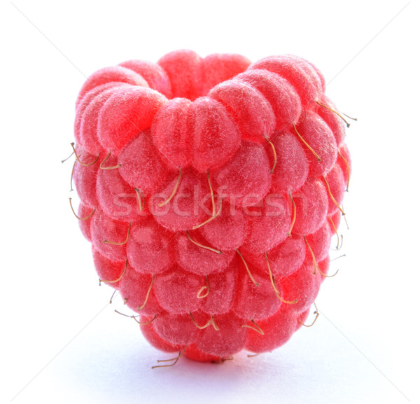 Ripe Red Juicy Raspberry Isolated on White Background Stock photo © maxpro