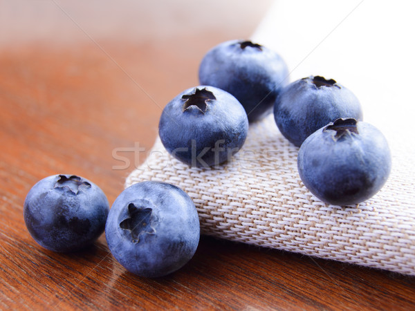 Closeup Image of Ripe Sweet Blueberries Stock photo © maxpro