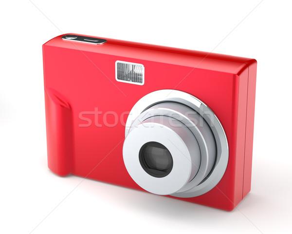 Rosso digitale compatto foto fotocamera bianco Foto d'archivio © maxpro