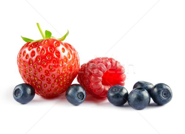 Сток-фото: большой · свежие · Ягоды · белый · продовольствие
