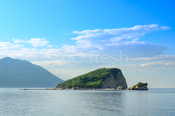 Famous Island of Sveti Nikola in Budva. Montenegro, Adriatic sea, Europe. Stock photo © maxpro