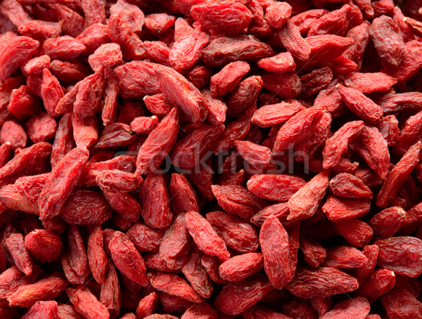 Stock photo: Background of Dried Red Goji Berries