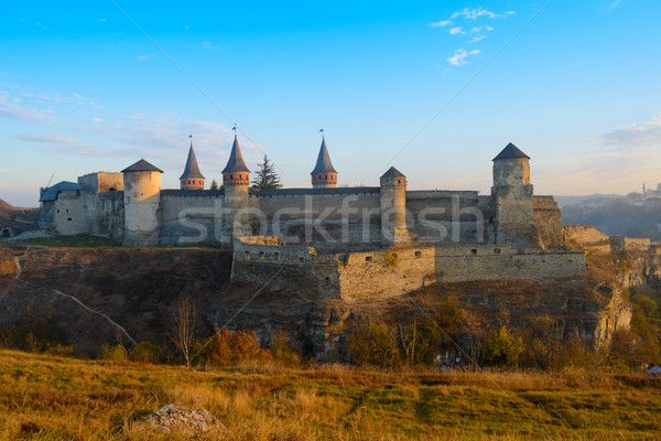 Old Fortress in the Ancient City of Kamyanets-Podilsky Stock photo © maxpro