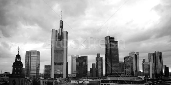 Stock photo: Frankfurt Skyline under Dramatic Sky