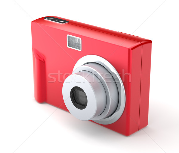 Red Digital Compact Photo Camera on the White Background Stock photo © maxpro