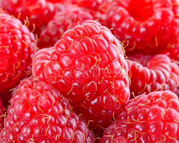 Closeup Image of Juicy Raspberries. Tasty Summer Background Stock photo © maxpro