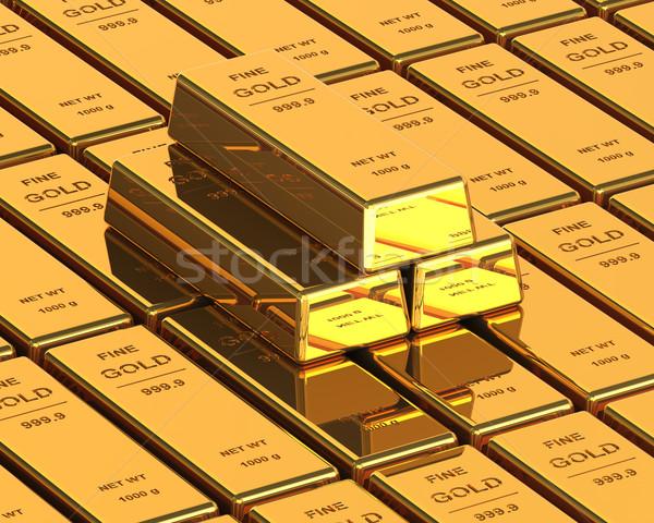 Big Set of Gold bars Stock photo © maxpro