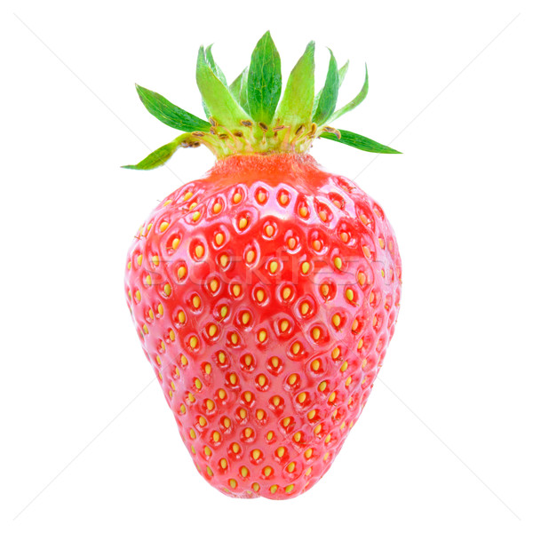 Sweet Juicy Strawberry Isolated on White Background. Summer Healthy Food Concept Stock photo © maxpro