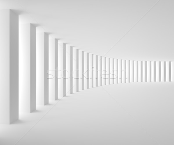 Empty White Interior with Big Columns and Light Stock photo © maxpro
