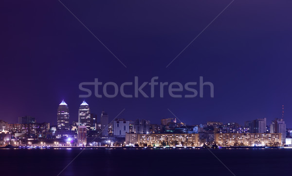 Night Skyline of Dnipropetrovsk and river Dnipro, Ukraine Stock photo © maxpro