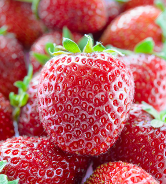 Close up of Fresh Sweet Strawberries Stock photo © maxpro
