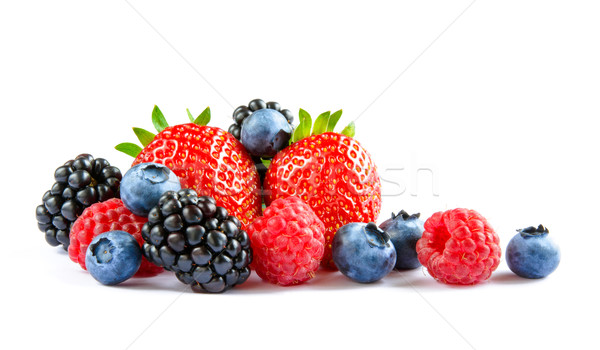 Big Pile of Fresh Berries on the White Background Stock photo © maxpro