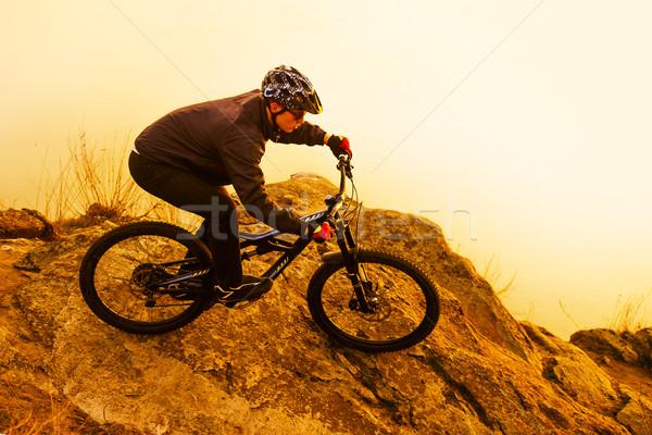 велосипедист верховая езда горных велосипедов рок Экстрим пространстве Сток-фото © maxpro