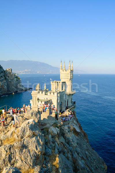 Beautiful Swallow's Nest Castle on the Rock, Crimea, Ukraine Stock photo © maxpro