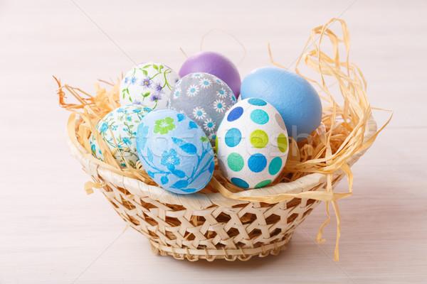 Pastel easter eggs Stock photo © maxsol7