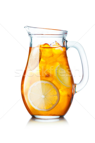 Iced tea pitcher Stock photo © maxsol7