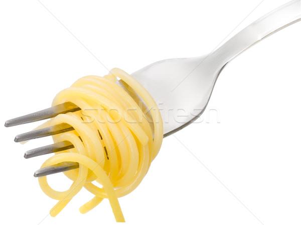 Spaghetti on a fork Stock photo © maxsol7