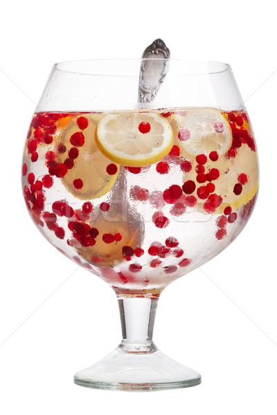 Cranberry lemon detox water Stock photo © maxsol7