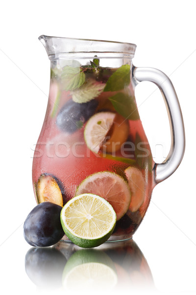 Plum lemonade jug Stock photo © maxsol7