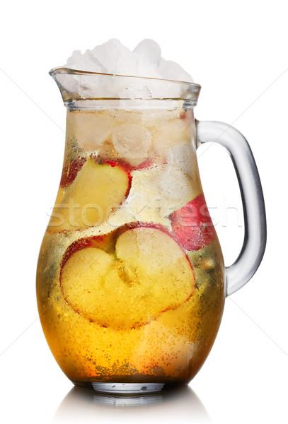 Jabłko szkła domowej roboty serwowane lodu plastry Zdjęcia stock © maxsol7
