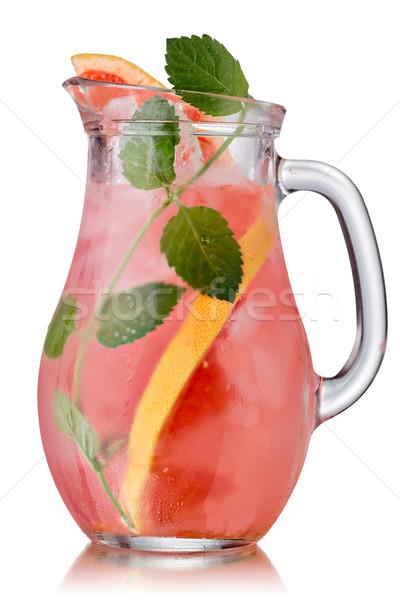 Grapefruit menta detoxikáló kancsó víz üveg Stock fotó © maxsol7