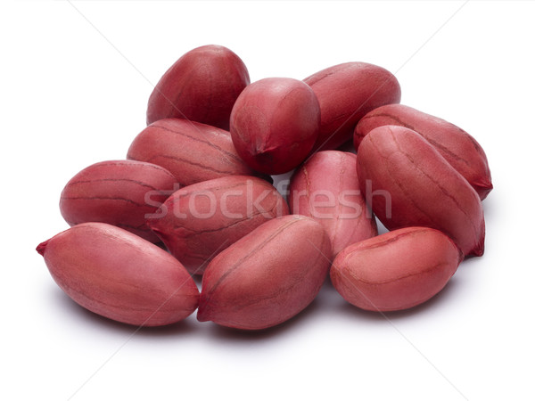 Raw shelled peanuts with clipping paths Stock photo © maxsol7