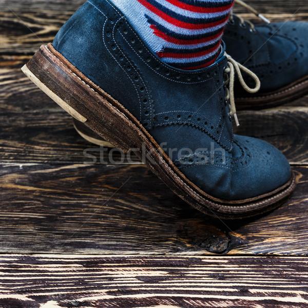 Mavi ayakkabı çorap Stok fotoğraf © maxsol7