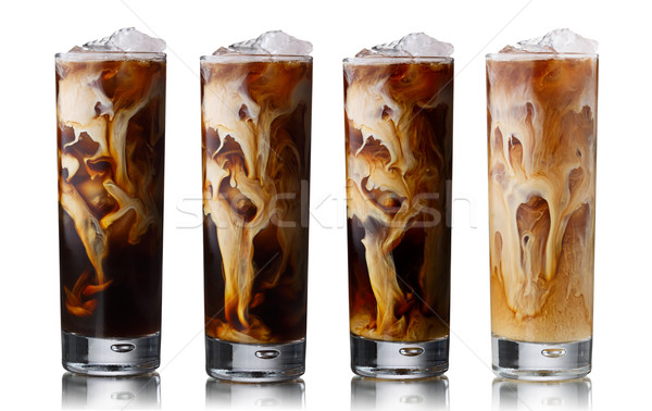 Iced coffee set Stock photo © maxsol7