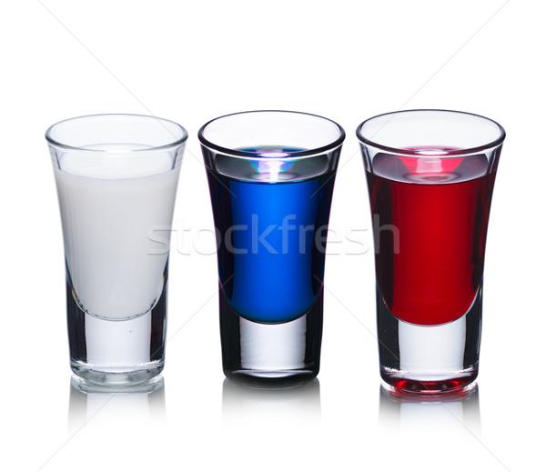 Cocktail shot occhiali vetro blu Russia Foto d'archivio © maxsol7
