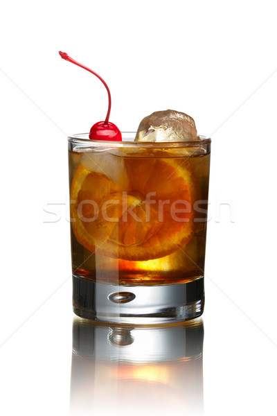 Old fashioned cocktail Stock photo © maxsol7