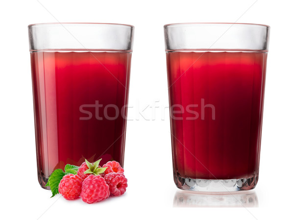 Glasses with raspberry smoothie Stock photo © maxsol7