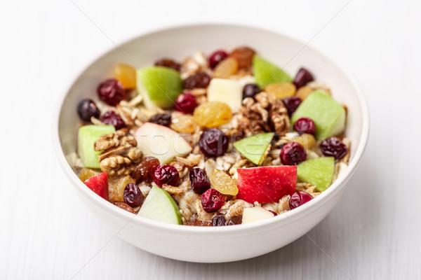 Cranberry raisins apple cereal Stock photo © maxsol7