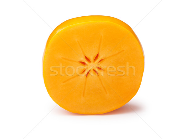 Halved persimmon isolated Stock photo © maxsol7
