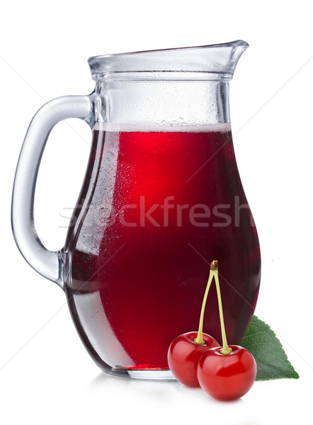 Cherry juice in a pitcher Stock photo © maxsol7
