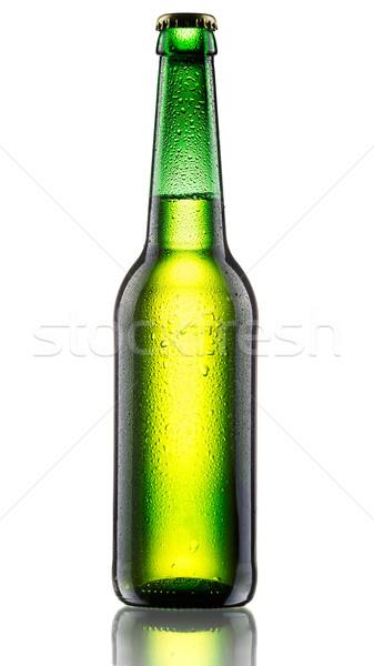 Green bottle of bee Stock photo © maxsol7