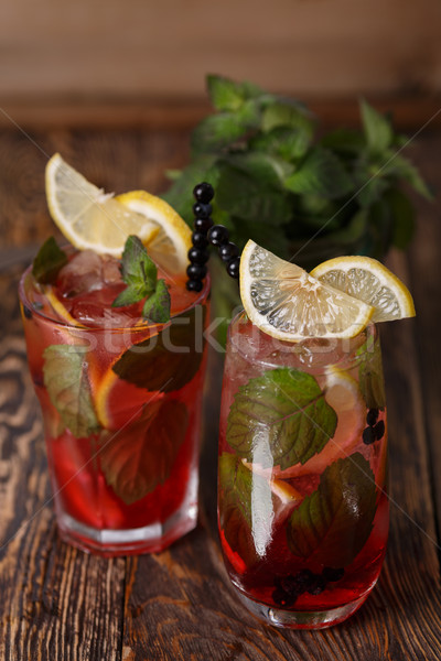Blueberry mojitos Stock photo © maxsol7