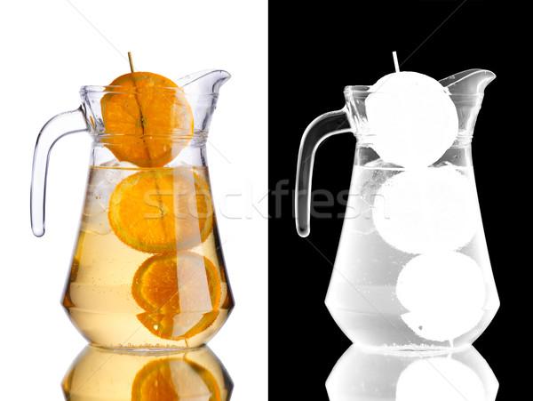 Jarro laranja coquetel laranjas transparência Foto stock © maxsol7