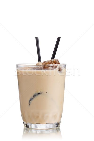 Leite café coquetel congelada vidro Foto stock © maxsol7
